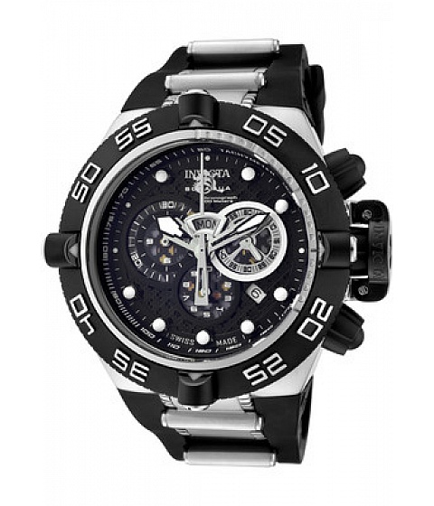 Ceasuri I by Invicta - Invicta Watch 6564 Mens Subaqua Chronograph Black Dial Black Polyurethane & - Multicolor