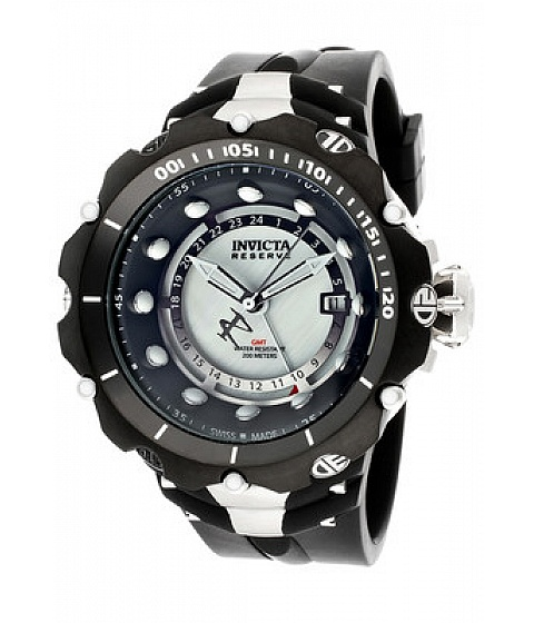Ceasuri I by Invicta - Invicta Watch 12774 Mens Venom/reserve Gmt White Mop Dial Black Polyurethane - Multicolor