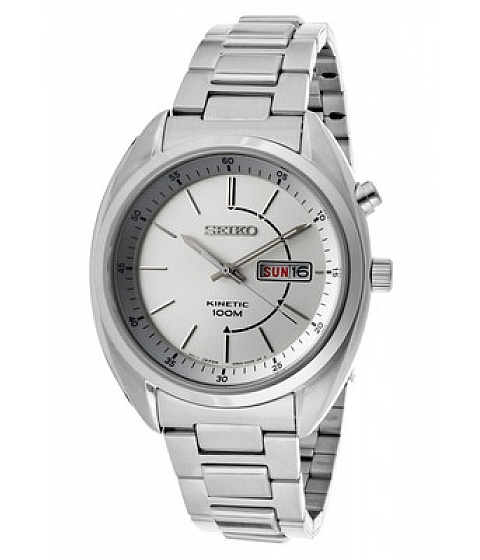 Ceasuri Seiko Watches - Seiko Watch Smy117 Mens Kinetic Silver Dial Stainless Steel - Multicolor