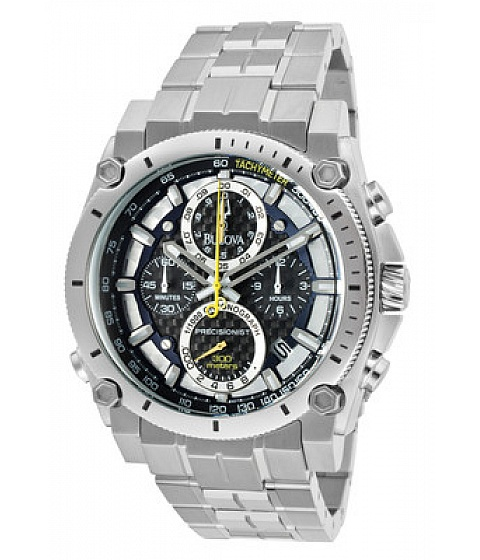 Ceasuri Accutron by Bulova - Bulova Watch 96b175 Mens Champlain Chronograph Black Dial Stainless Steel - Multicolor