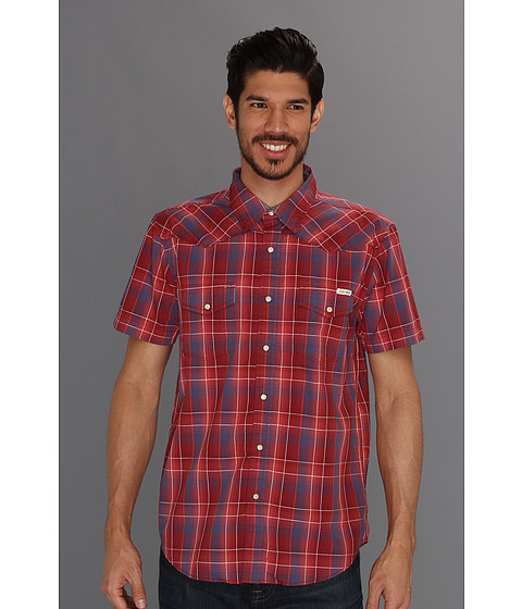 Camasi Lucky Brand - Sawatch Plaid S/S Western - Lightt Blue/Red