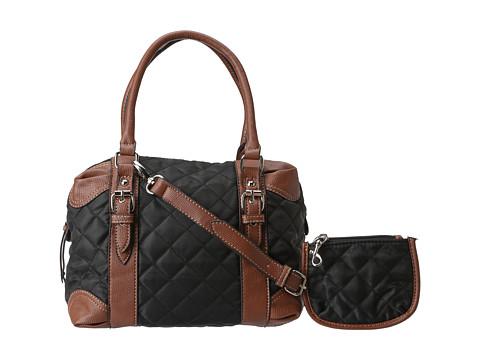Posete Franco Sarto - Collins Nylon Satchel - Black/Luggage
