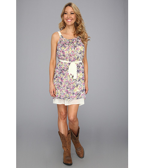 Rochii Roper - Printed Georgette Dress - Purple