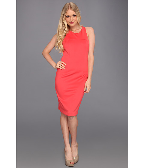 Rochii Jessica Simpson - Sporty Multi-Strap Pencil Dress w/ Circular Ring Back Detail - Pink