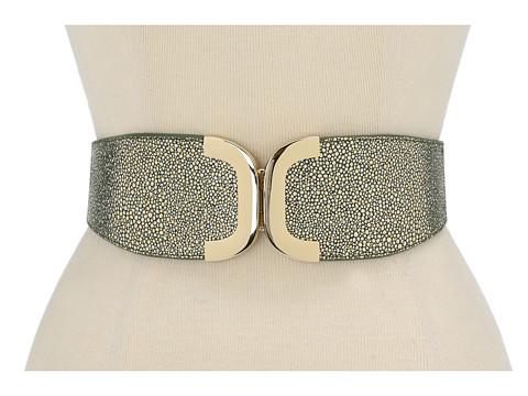 Curele Lodis Accessories - Fairfax Avenue Metal Front Closure Elastic Belt - Moss