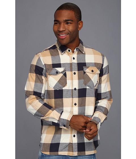 Bluze Vans - Box Flannel L/S Shirt - Latte/Navy