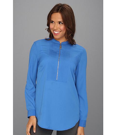 Bluze MICHAEL Michael Kors - Tux Shirt w/ Zipper - Blue Jay