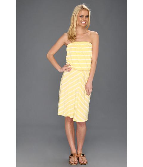 Rochii Michael Stars - Hampton Stripe Strapless Dress - Lemon