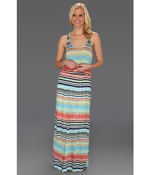 Rochii Michael Stars - Happy Stripe Maxi Dress - Atlantic