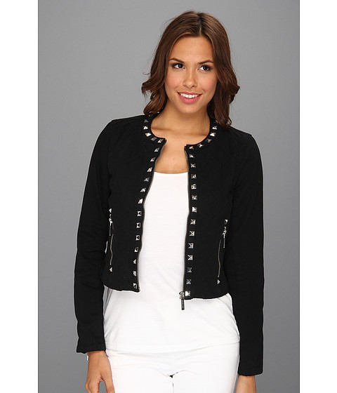Jachete MICHAEL Michael Kors - Denim Studded Quilted Jacket - Black