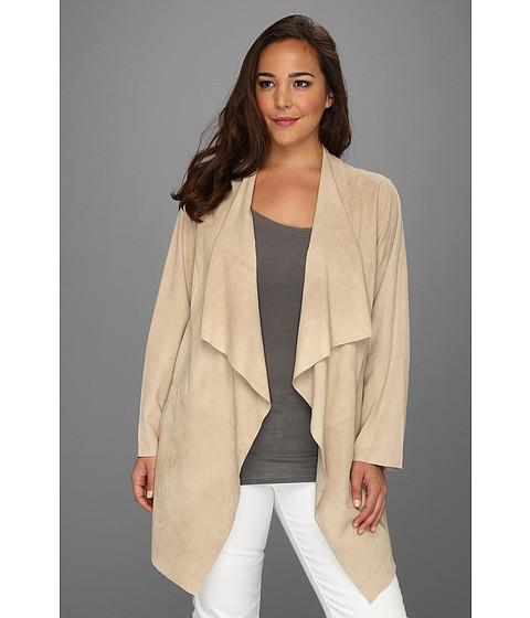 Jachete MICHAEL Michael Kors - Plus Size Suede Drape Front Jacket - Khaki