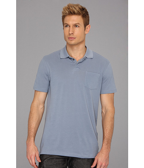 Tricouri John Varvatos - S/S Pique Polo Luxe - Atlantic