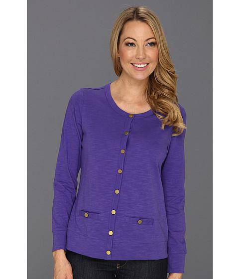 Pulovere Caribbean Joe - Long Sleeve Button Front Cardigan - Skiff Purple