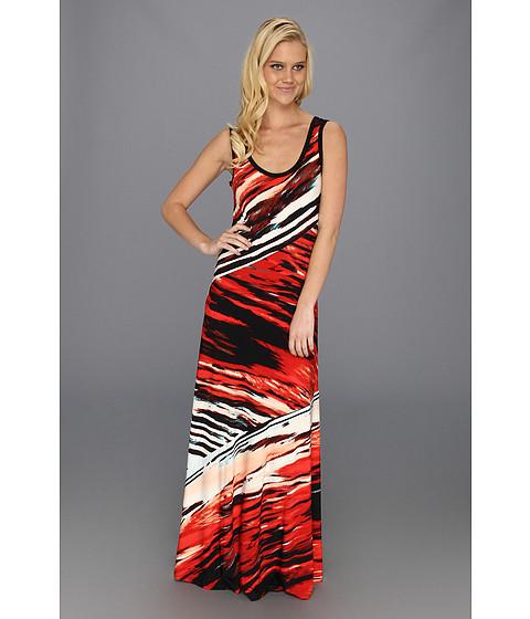Rochii Calvin Klein - Bias Cut Maxi Dress - Tango/Capri Multi