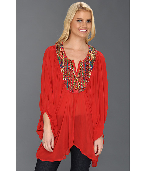 Bluze Free People - Fortune Teller Top - Red Combo