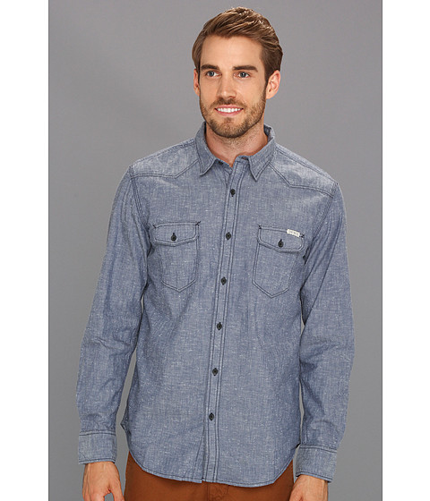 Bluze Lucky Brand - Coyote Hills Chambray Western - Nep Chambray