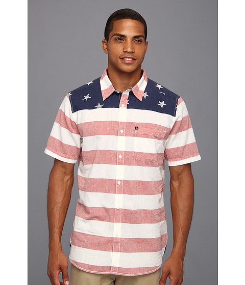 Camasi Quiksilver - Sergeant Stripes Woven - Brick Red