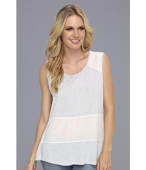 Bluze Michael Stars - Sandwashed Silk Sleeveless Tank - White