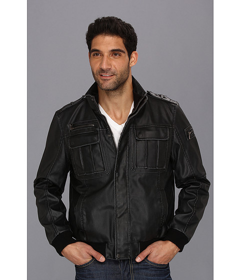 Jachete Calvin Klein - Faux Leather Bomber - Black