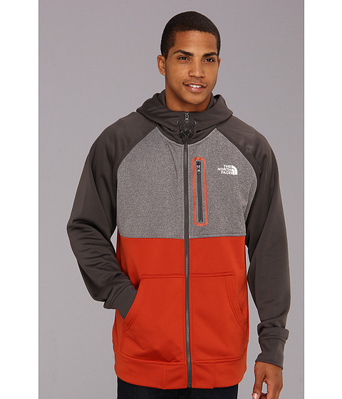 Bluze The North Face - Mack Mays Full Zip Hoodie - Red Clay/Heather Grey/Graphtie Grey