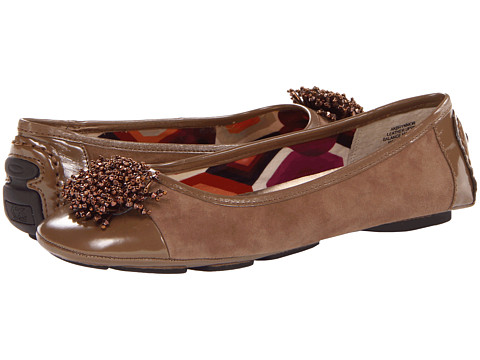 Balerini Anne Klein New York - Brynmor - Taupe Suede/Taupe Patent