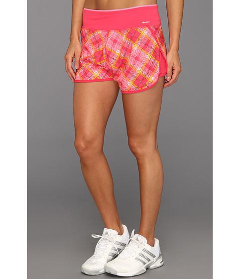 Pantaloni adidas - PowerLuxe No Fuss Plaid Training Short - Blaze Pink/Pink Zest