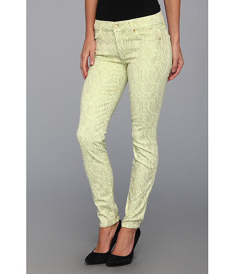 "Blugi 7 For All Mankind - The Skinny 29"" in Celery w/ Almond Foil - Celery w/ Almond Foil"