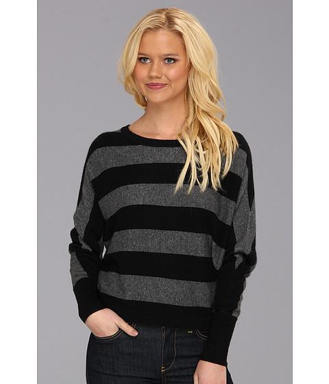 Bluze BCBGMAXAZRIA - Camille Striped Boat Neck Sweater - Medium Heather Grey Combo