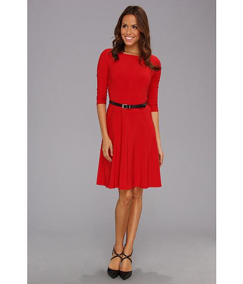 Rochii Anne Klein New York - Jersey Swing Dress - Cardinal