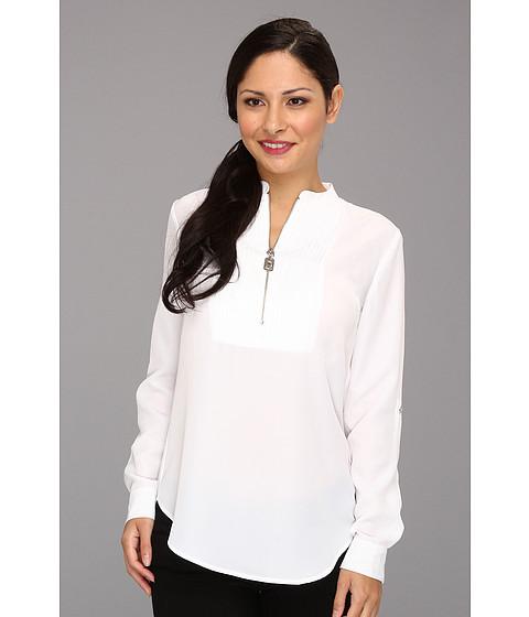 Bluze MICHAEL Michael Kors - Petite Tux Shirt w/ Zipper - White