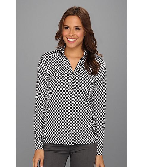 Camasi MICHAEL Michael Kors - Printed Long Sleeve Snap Shirt - Black