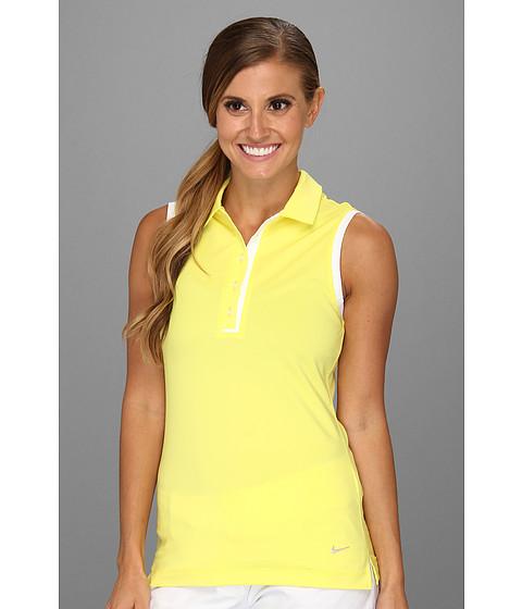 Bluze Nike - Novelty Sleeveless Polo - Sonic Yellow/White