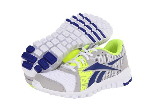 Adidasi Reebok - RealFlex Advance - GP-White/Steel/Blue Move/Neon Yellow