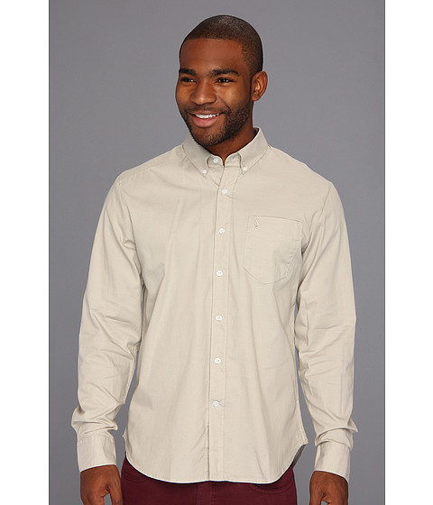 Camasi Volcom - Why Factor Oxford L/S - Stone