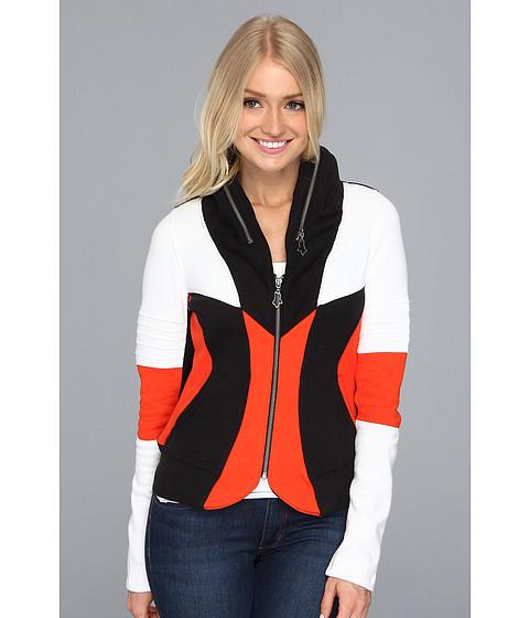 Bluze Fox - Blockout Zip Jacket - Orange Flame