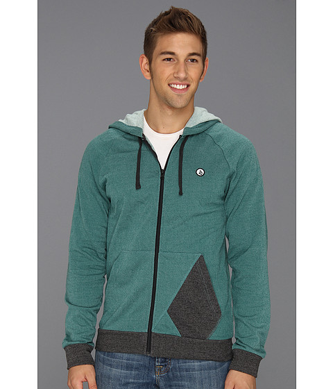 Bluze Volcom - Stone Zip Hoodie - Green Cdr