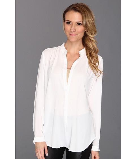 Bluze Karen Kane - Split Placket Shirred Blouse - Off White