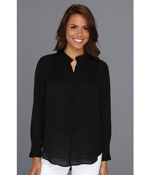 Bluze Karen Kane - Split Placket Shirred Blouse - Black