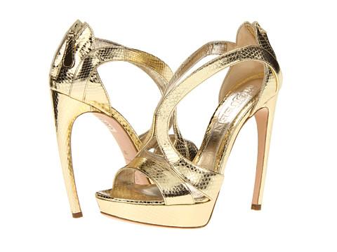 Pantofi Alexander McQueen - Sandal Pelle - Foil Ayers - Gold