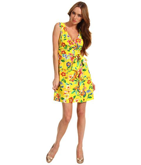 Rochii Kate Spade New York - Petal Floral Cathleen Dress - Donovan Yellow Dark Petal Floral