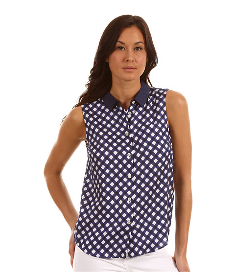 Tricouri Kate Spade New York - Gingham Fey Top - French Navy Spring Gingham
