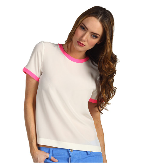 Tricouri Kate Spade New York - Myrna Top - Clotted Cream/Bazooka Pink