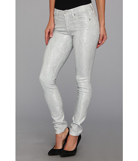 Blugi 7 For All Mankind - The Skinny in Grey/Silver Jacquard Snake - Grey/Silver Jacquard Snake