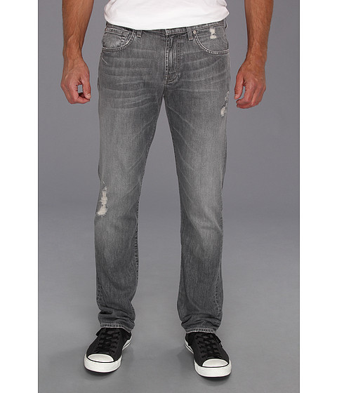 Blugi 7 For All Mankind - The Straight in Grey Distressed - Grey Distressed