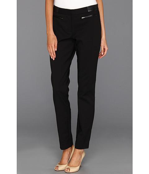 Pantaloni DKNY - Skinny Pant w/ Faux Leather - Black