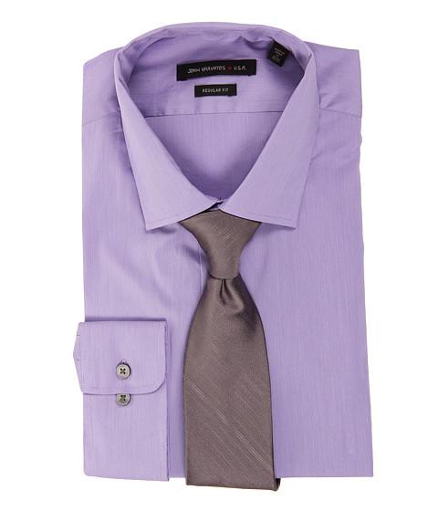 Camasi John Varvatos - Regular Fit Stretch Dress Shirt - Purple Dust