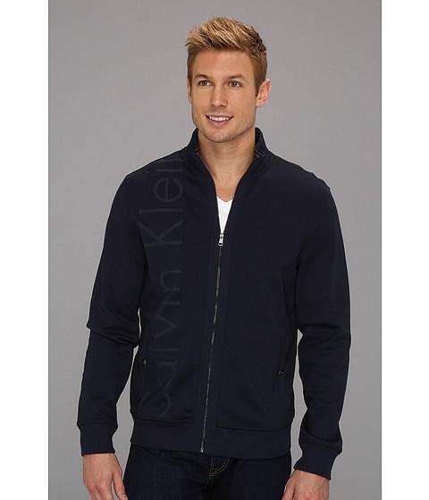 Jachete Calvin Klein - L/S Full Zip Ponti Di Roma w/ Tipping - Navy Blazer
