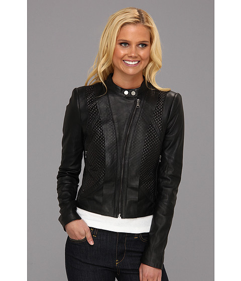 Jachete BCBGMAXAZRIA - Misa Leather Jacket - Black
