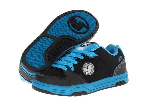 Adidasi DVS Shoe Company - Havoc (Little Kid/Big Kid) - Black/Teal Leather