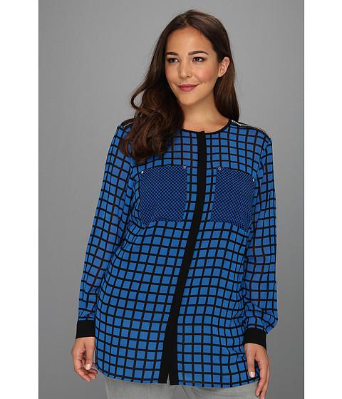 Bluze MICHAEL Michael Kors - Plus Size L/S Oversized Blouse - Blue Jay